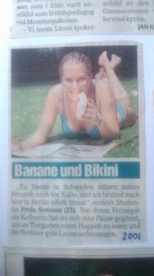 Äter man mellanmål och pluggar matte i en park i Berlin kan det vara av intresse för Tysklands motsvarighet till Aftonbladet.