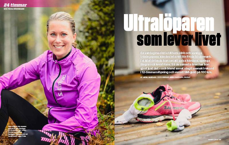 Spring Nr 2 finns i butik 10 februari. I detta nummer får du bland annat möra ultralöparen Frida Södermark.