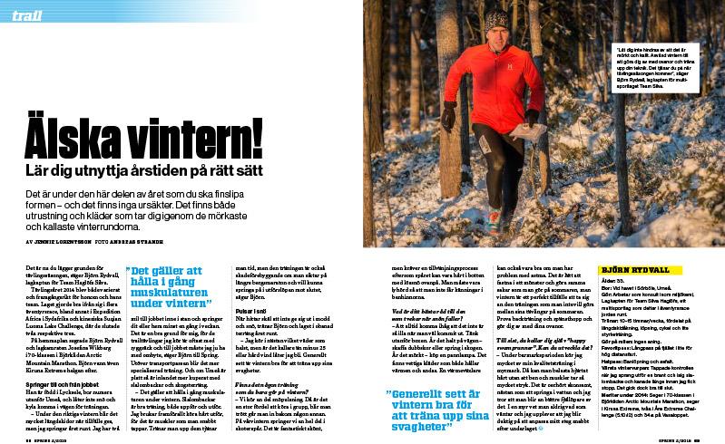 Björn Rydvall, lagkapten för Team Haglöfs Silva, tränar i obanad terräng året runt. Han ger goda råd om vinterlöpning.