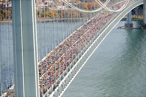 Verrazano Bridge. Starten!