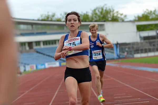 Frida Lundéns målgång SM-Milen 2014
