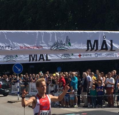 I mål efter fjärde segern i Malmömilen.