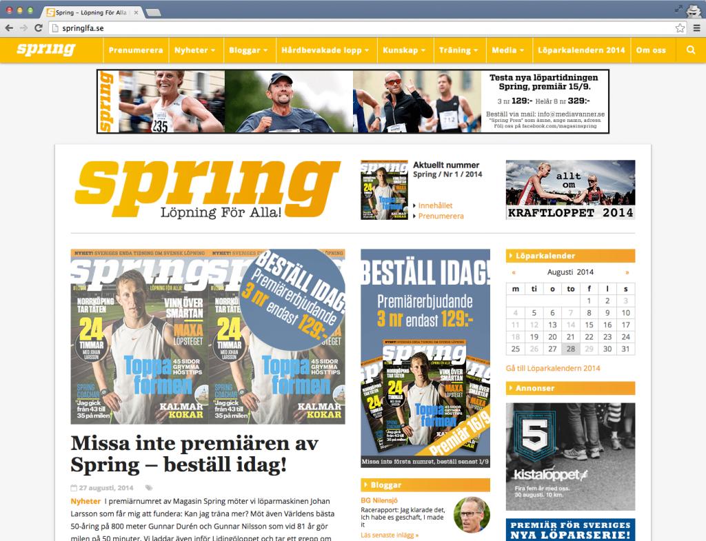 Spring-hemsida