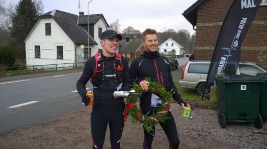 Först i mål var Anders Ingvarsson och Daniel Ljungdahl på 4:35:23. Foto: Privat