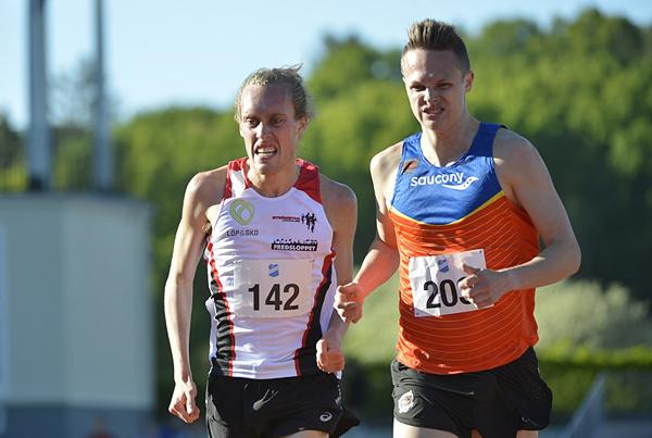 Män 3000 meter, Robin Lindgren, Örgryte IS;  Mikael Ekvall, Strömstads LK,