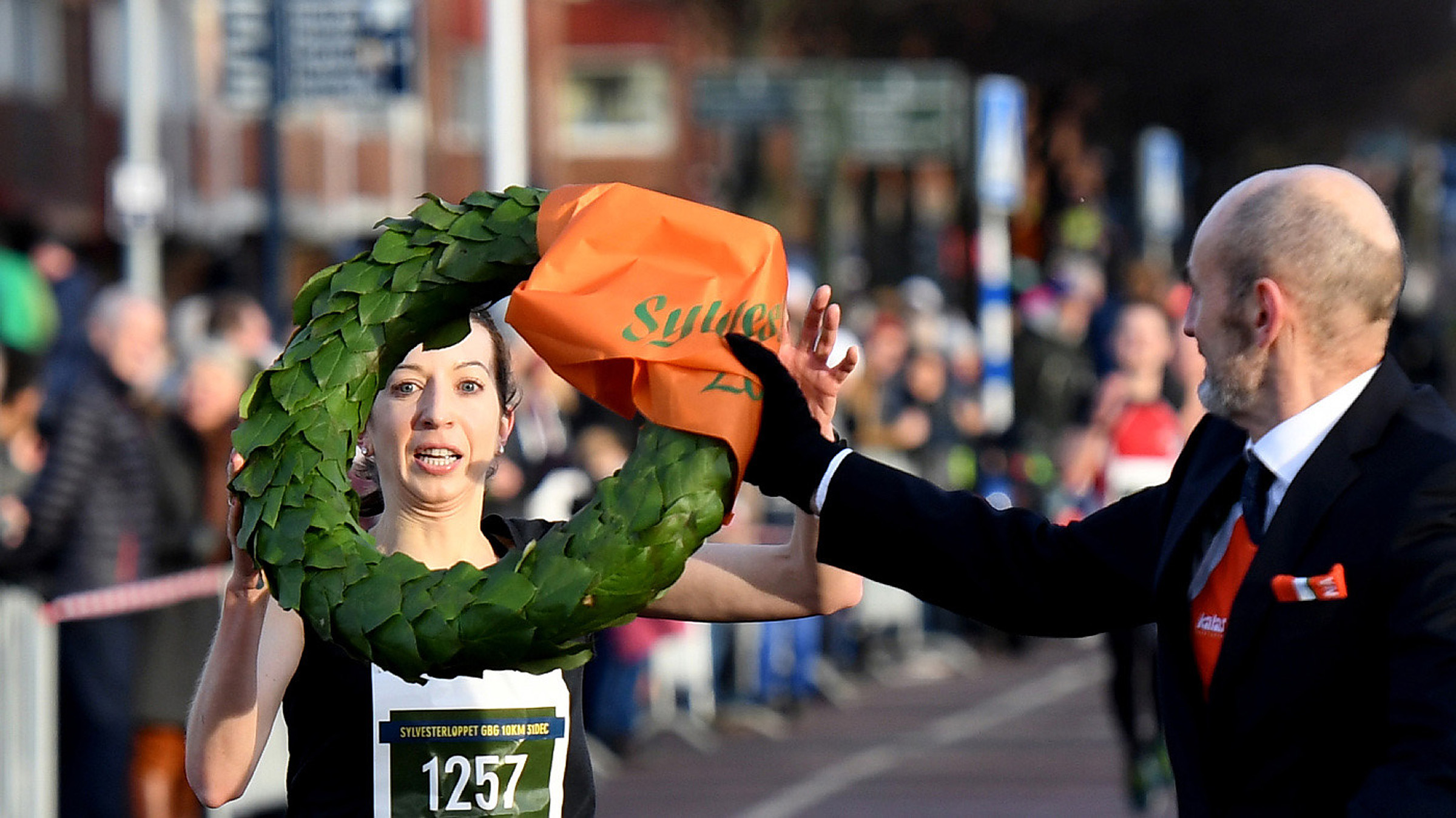 Annie Bersagel segrade i Sylvesterloppet i Göteborg. Foto: Deca Text&Bild